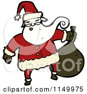 Cartoon Of Santa Royalty Free Vector Clipart by lineartestpilot