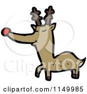 Cartoon Of A Christmas Reindeer Royalty Free Vector Clipart