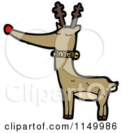 Cartoon Of A Christmas Reindeer Royalty Free Vector Clipart