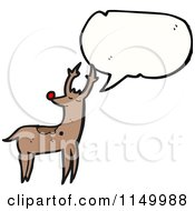 Cartoon Of A Reindeer With A Thought Balloon Royalty Free Vector Clipart by lineartestpilot