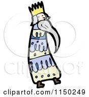 Cartoon Of One Of The Three Kings Royalty Free Vector Clipart by lineartestpilot