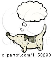 Cartoon Of A Thinking Dog Royalty Free Vector Clipart