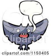 Cartoon Of A Thining Vampire Bat Royalty Free Vector Clipart