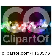 Clipart Of A Colorful Bokeh Christmas Light Background Royalty Free Clipart