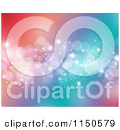 Clipart Of A Colorful Sparkle Bokeh Background Royalty Free Clipart