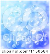 Clipart Of A Blue Blurred Buble Background Royalty Free Vector Clipart by Oligo