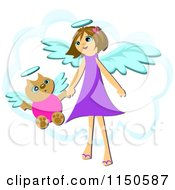 Cat And Angel Girl Holding Hands