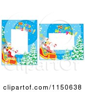 Cartoon Of Christmas Frames With Copyspace Royalty Free Clipart