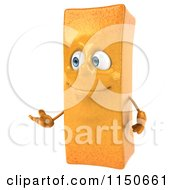 Clipart Of A 3d Happy French Fry Mascot Presenting Royalty Free CGI Illustration by Julos