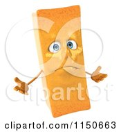 Clipart Of A 3d Shrugging French Fry Mascot Royalty Free CGI Illustration