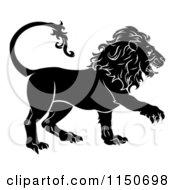 Black And White Leo Lion Star Sign