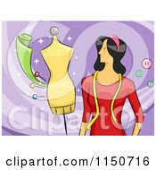 Cartoon Of A Female Fashion Designer Royalty Free Vector Clipart