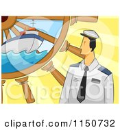 Sailor With A Ship And Helm