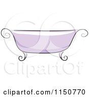 Chic Purple Bath Tub