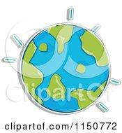 Cartoon Of A Globe Royalty Free Vector Clipart