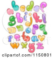 Cartoon Of Colofrul Bubbly Alphabet Letters Royalty Free Vector Clipart