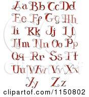 Formal Red Alphabet Letters