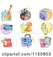 Cartoon Of Hobby Icons Royalty Free Vector Clipart