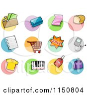 Cartoon Of Shopping Icons Royalty Free Vector Clipart by BNP Design Studio