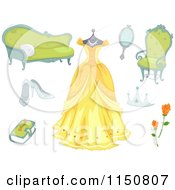 Cartoon Of Fairy Tale Princess Design Elemenst Royalty Free Vector Clipart