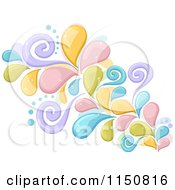 Cartoon Of A Colorful Splash With Swirls Royalty Free Vector Clipart by BNP Design Studio