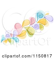 Cartoon Of A Colorful Splash With Swirls Royalty Free Vector Clipart