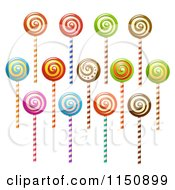Clipart Of Swirl Lollipops Royalty Free Vector Clipart