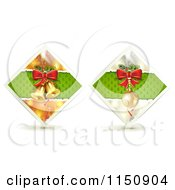 Clipart Of Diamond Christmas Bell And Bauble Icons Royalty Free Vector Clipart by merlinul