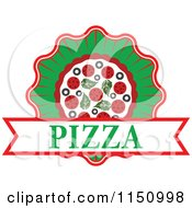 Clipart Of A Pizza Logo Royalty Free Vector Clipart