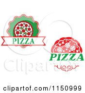 Clipart Of Pizza Logos Royalty Free Vector Clipart