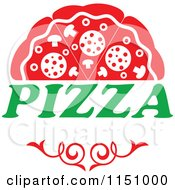 Clipart Of A Pizza Logo 2 Royalty Free Vector Clipart