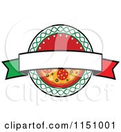 Clipart Of A Pizza Logo 3 Royalty Free Vector Clipart