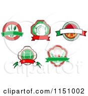 Clipart Of Restaurant Cafe Diner And Pizzeria Logos Royalty Free Vector Clipart