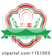 Clipart Of A Red And Green Restaurant Cafe Or Diner Logo 4 Royalty Free Vector Clipart