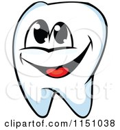 Clipart Of A Happy Tooth Mascot Royalty Free Vector Clipart