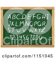 Clipart Of Alphabet Letters And Numbers On A Chalk Board Royalty Free Vector Clipart by Vector Tradition SM