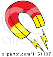 Cartoon Of A Horseshoe Magnet Royalty Free Vector Clipart by Johnny Sajem