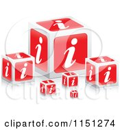Clipart Of 3d Red I Information Cubes Royalty Free Vector Clipart by Andrei Marincas