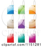 Clipart Of Colorful Sales Tags Royalty Free Vector Clipart