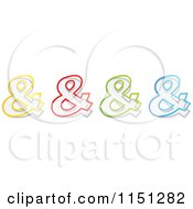 Clipart Of Colorful Ampersand Symbols Royalty Free Vector Clipart