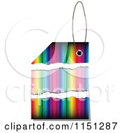 Clipart Of A Colorful Sales Tag Royalty Free Vector Clipart