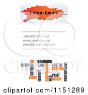 Clipart Of A Vertical Business Card Template With Sample Text Royalty Free Vector Clipart