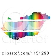 Clipart Of A Colorful Hungary Flag Map Royalty Free Vector Clipart