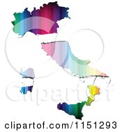 Clipart Of A Colorful Italy Flag Map Royalty Free Vector Clipart