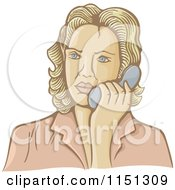 Retro Woman Talking On A Telephone