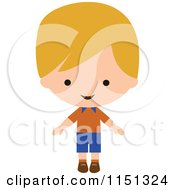 Cartoon Of A Happy Blond Boy Royalty Free Vector Illustration