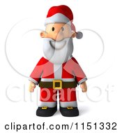 Clipart Of A 3d Happy Santa Smiling Royalty Free CGI Illustration by Julos