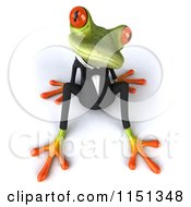 Clipart Of A 3d Formal Frog Sitting In A Tuxedo 2 Royalty Free CGI Illustration