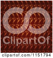 Clipart Of An Ornate Red Wallpaper Pattern Royalty Free Vector Illustration by lineartestpilot