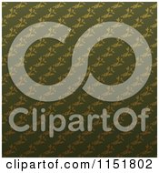 Clipart Of An Ornate Green Wallpaper Pattern Royalty Free Vector Illustration by lineartestpilot